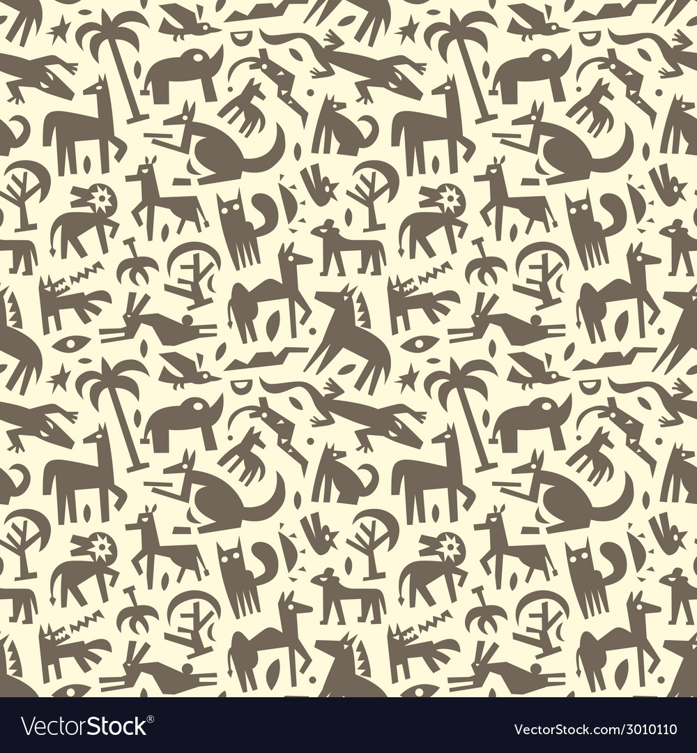 Animals - abstract seamless background