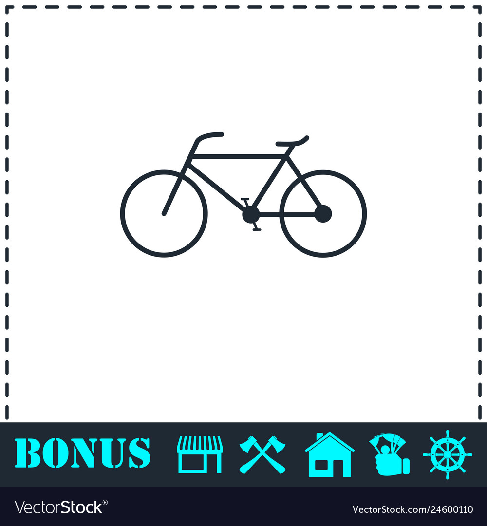Bicycle icon flat