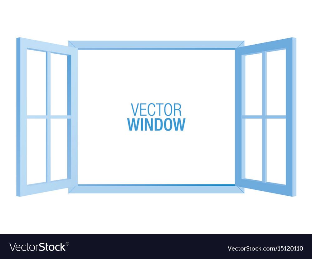 Blue window template