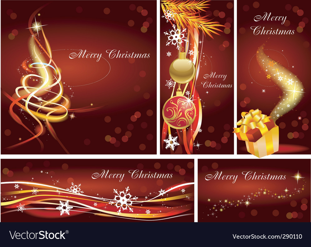 christmas tamplets royalty free vector image vectorstock