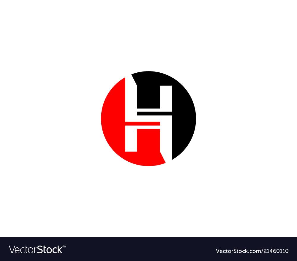 H letter circle logo