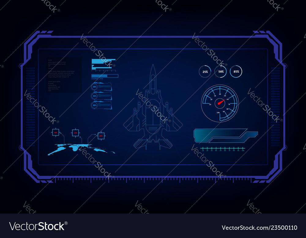 Hud interface gui futuristic technology jet