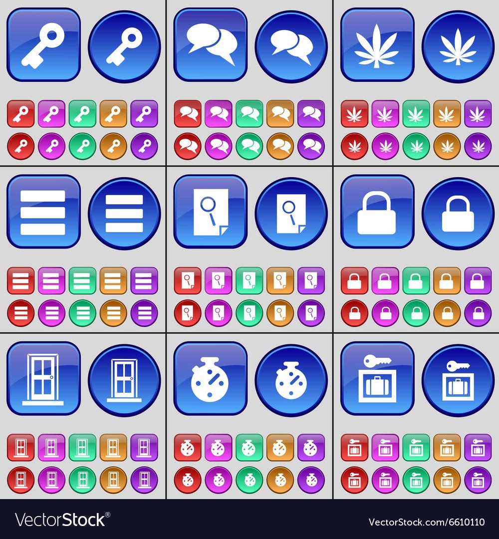 Key Chat Marijuana Apps File Lock Door Stopwatch