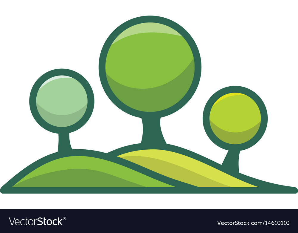 Landscape logo for gardening business