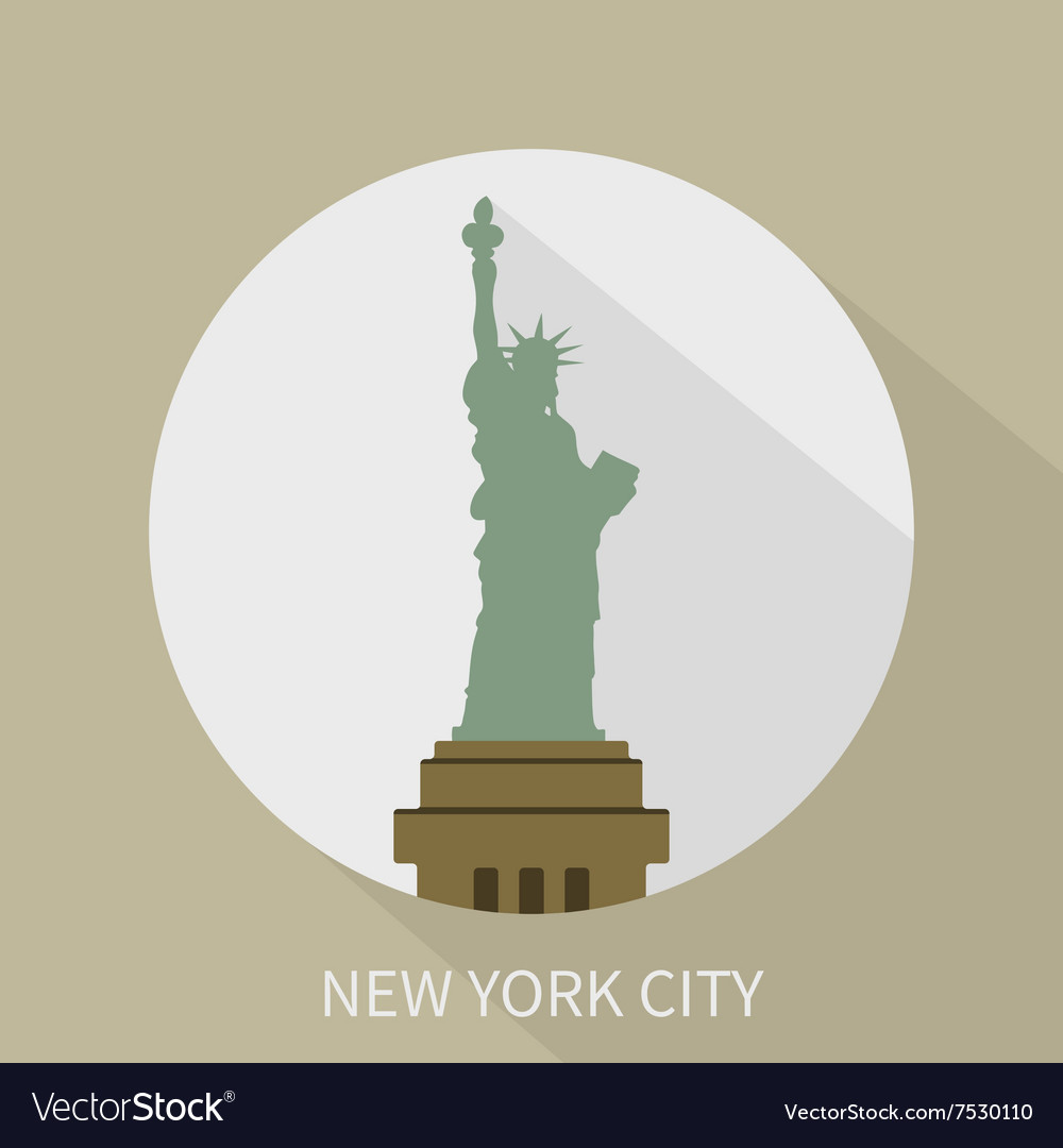 Statue of Liberty in New York icon vector image