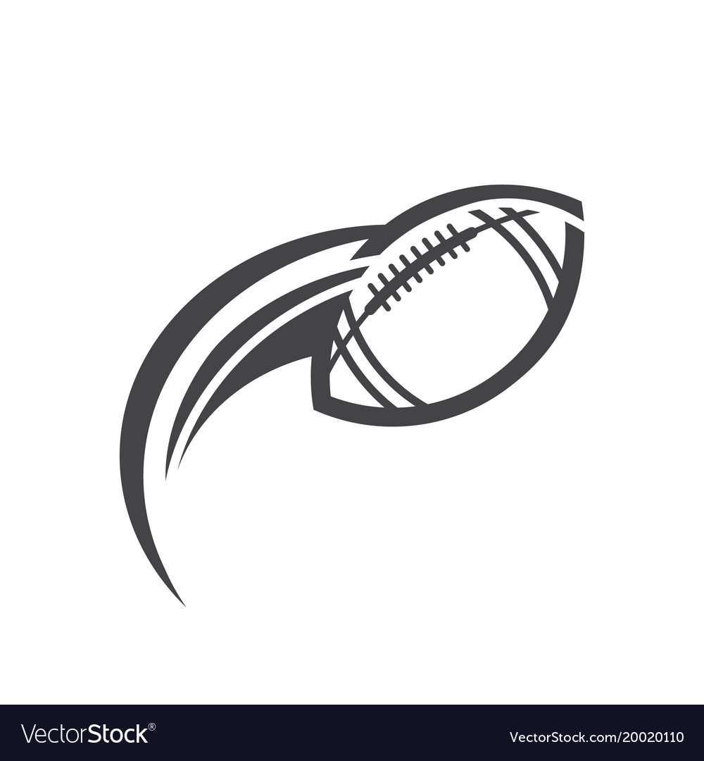 Swoosh american football logo icon vector image
