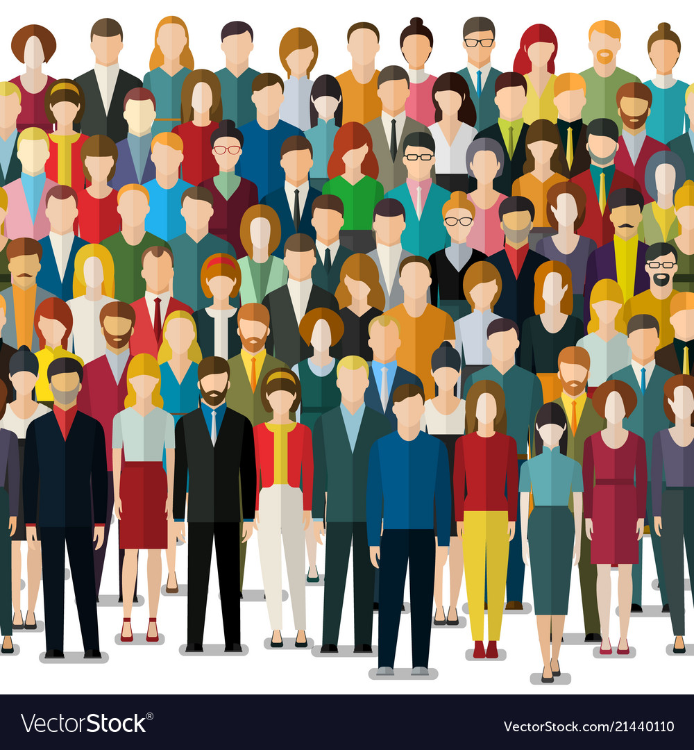 The crowd of abstract people