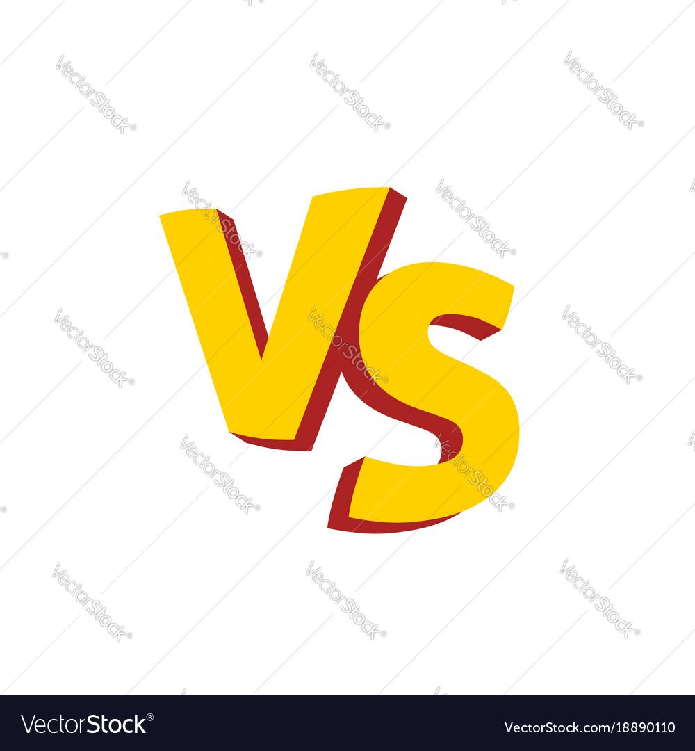 Versus Tv Logo: Versus Letters Or Vs Logo Emblem Royalty Free Vector Image