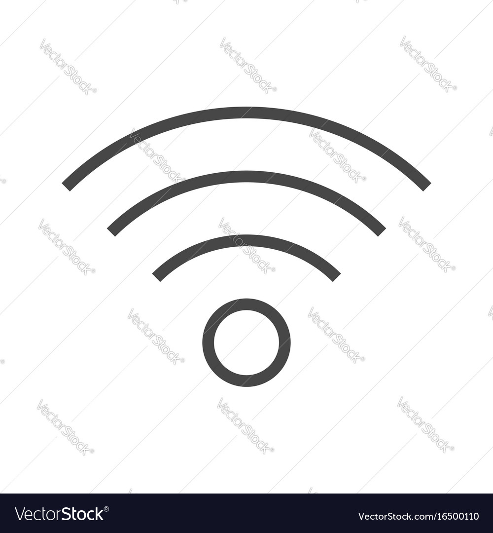 Wi fi thin line icon