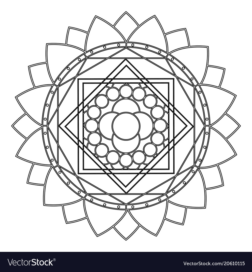 Abstract cute mandala