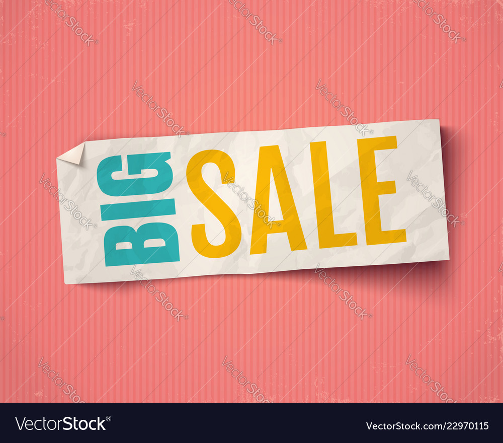 Banner for big sale