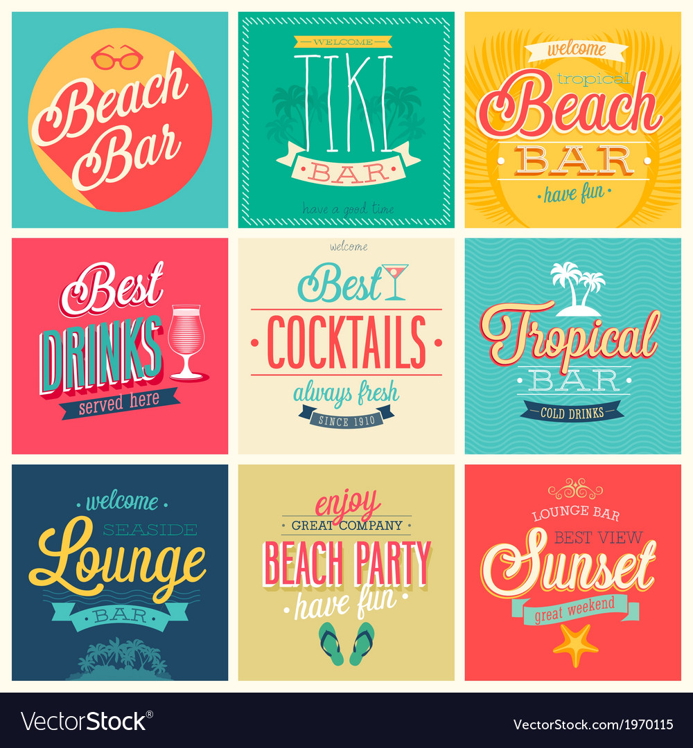 Beach bar set