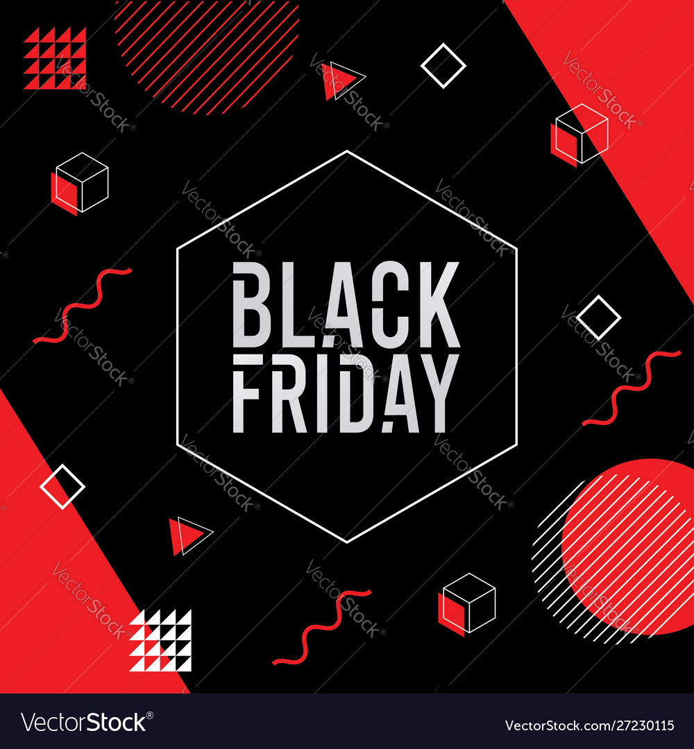 Black friday background memphis style vector