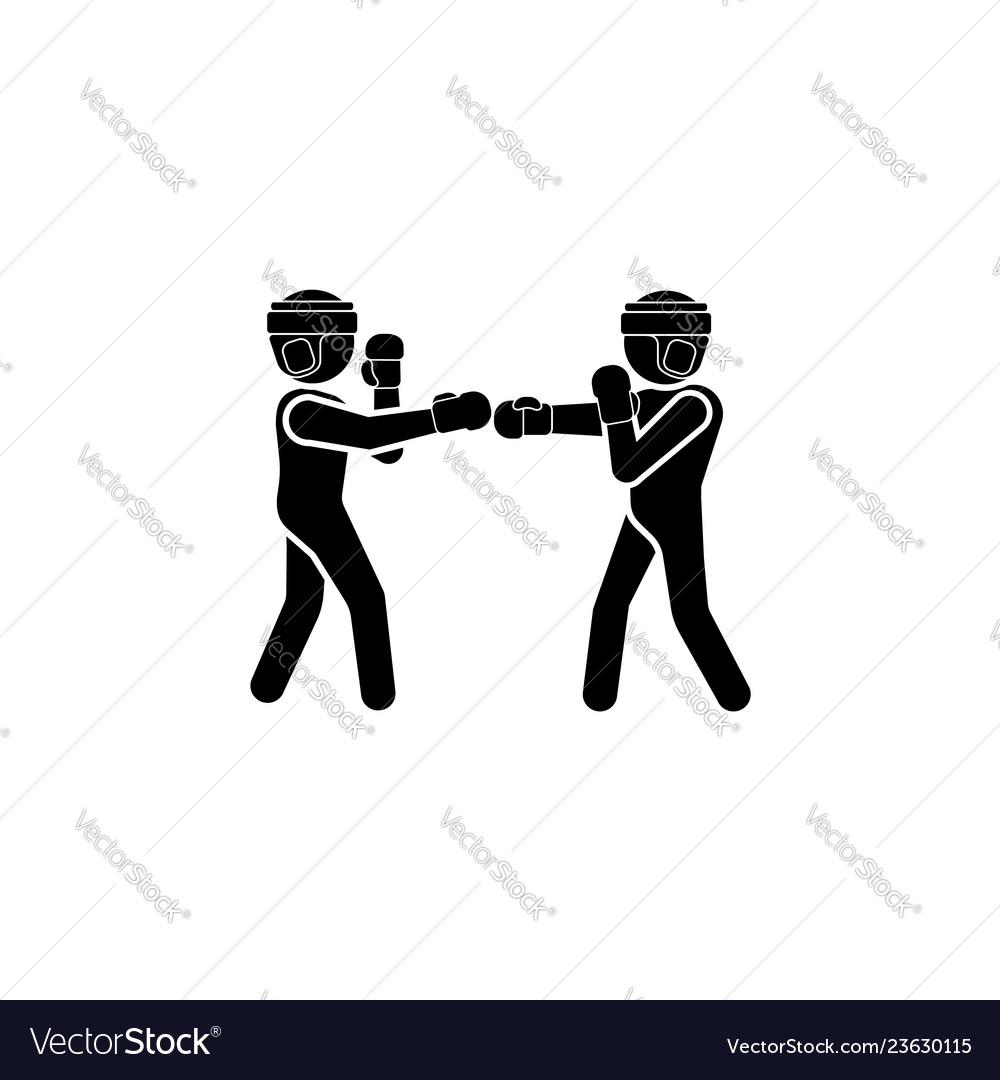 Boxers icon black on a white