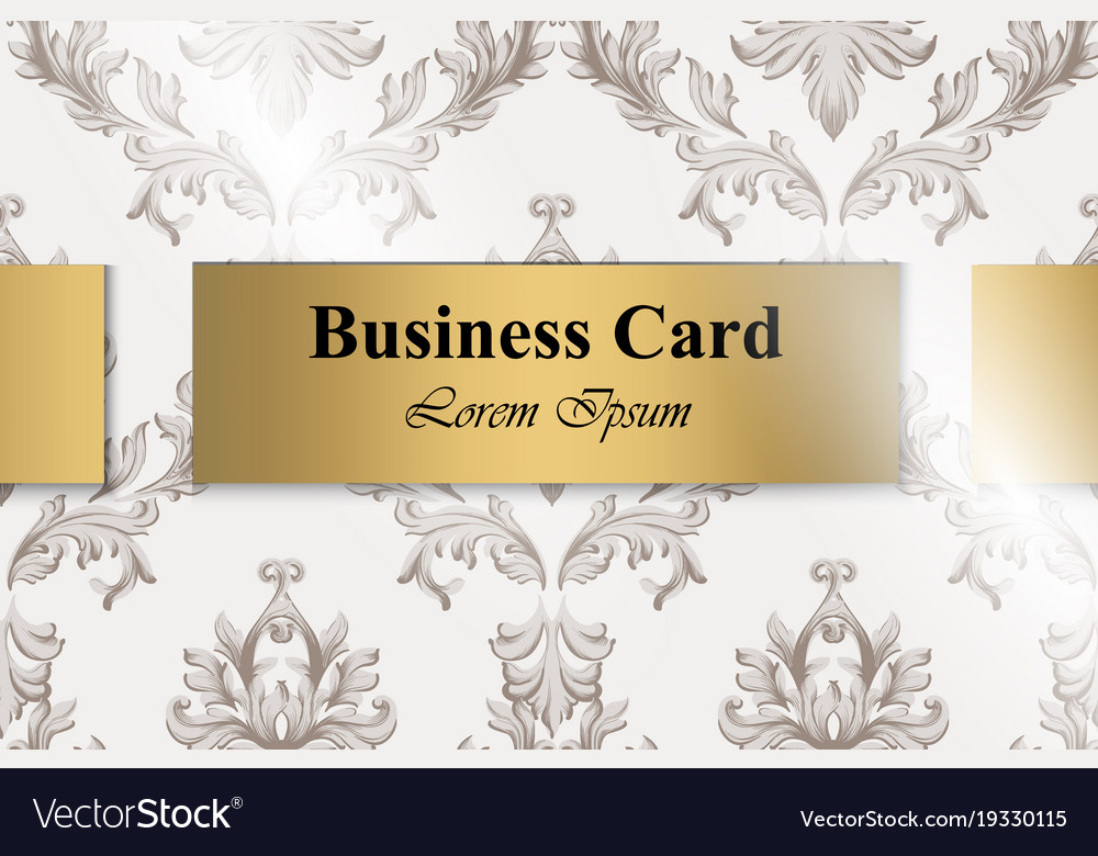 Business card with baroque ornament