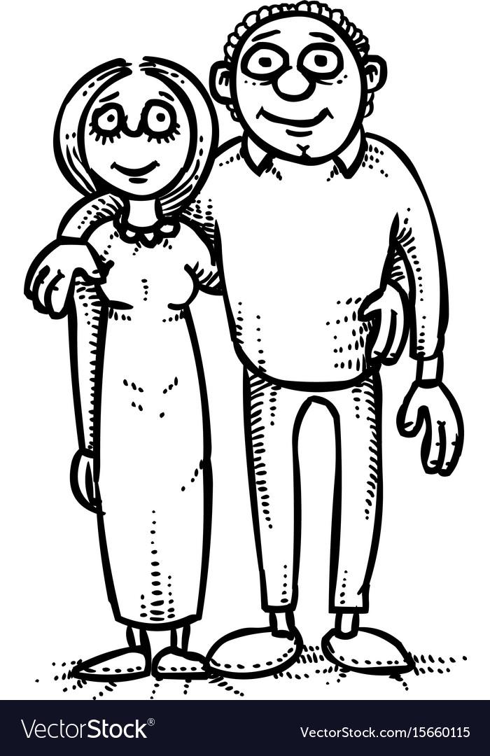 Cartoon Image Of Family Icon Parents Symbol Vector
