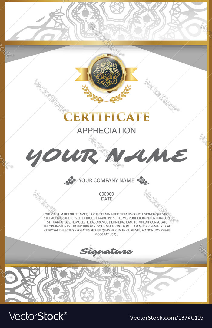 Certificate template elegant and stylish with