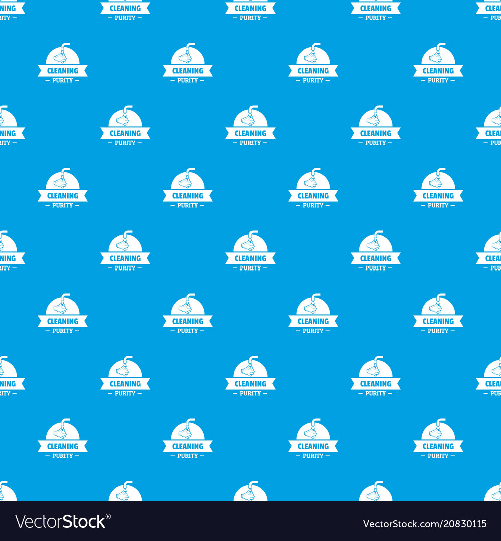 Cleaning purity pattern seamless blue