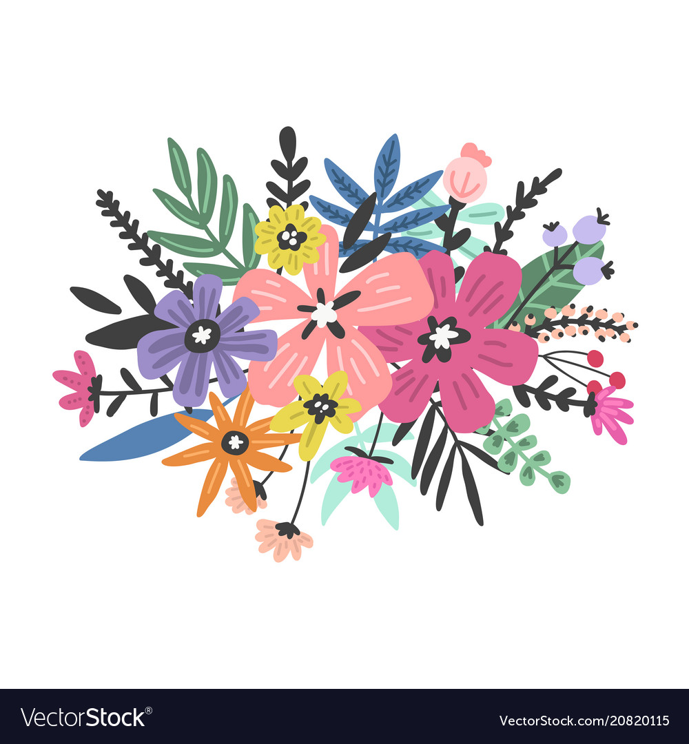 Colourful flowers design