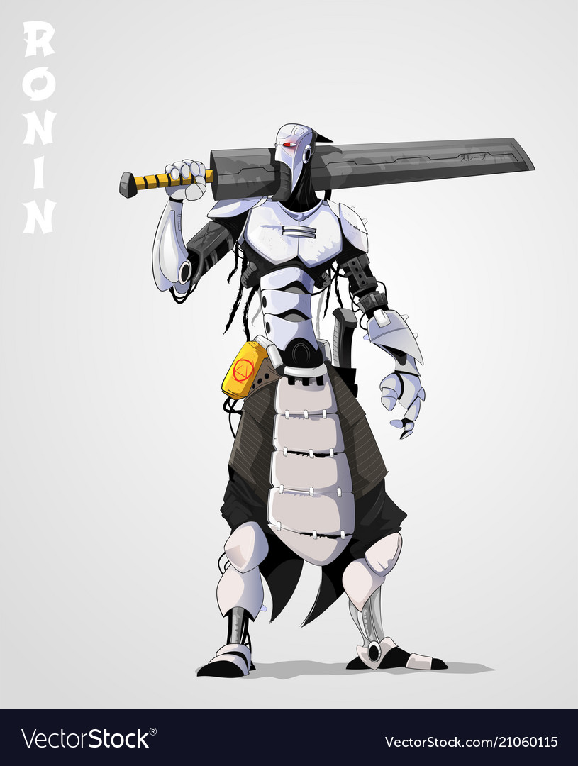 Cyborg with sword