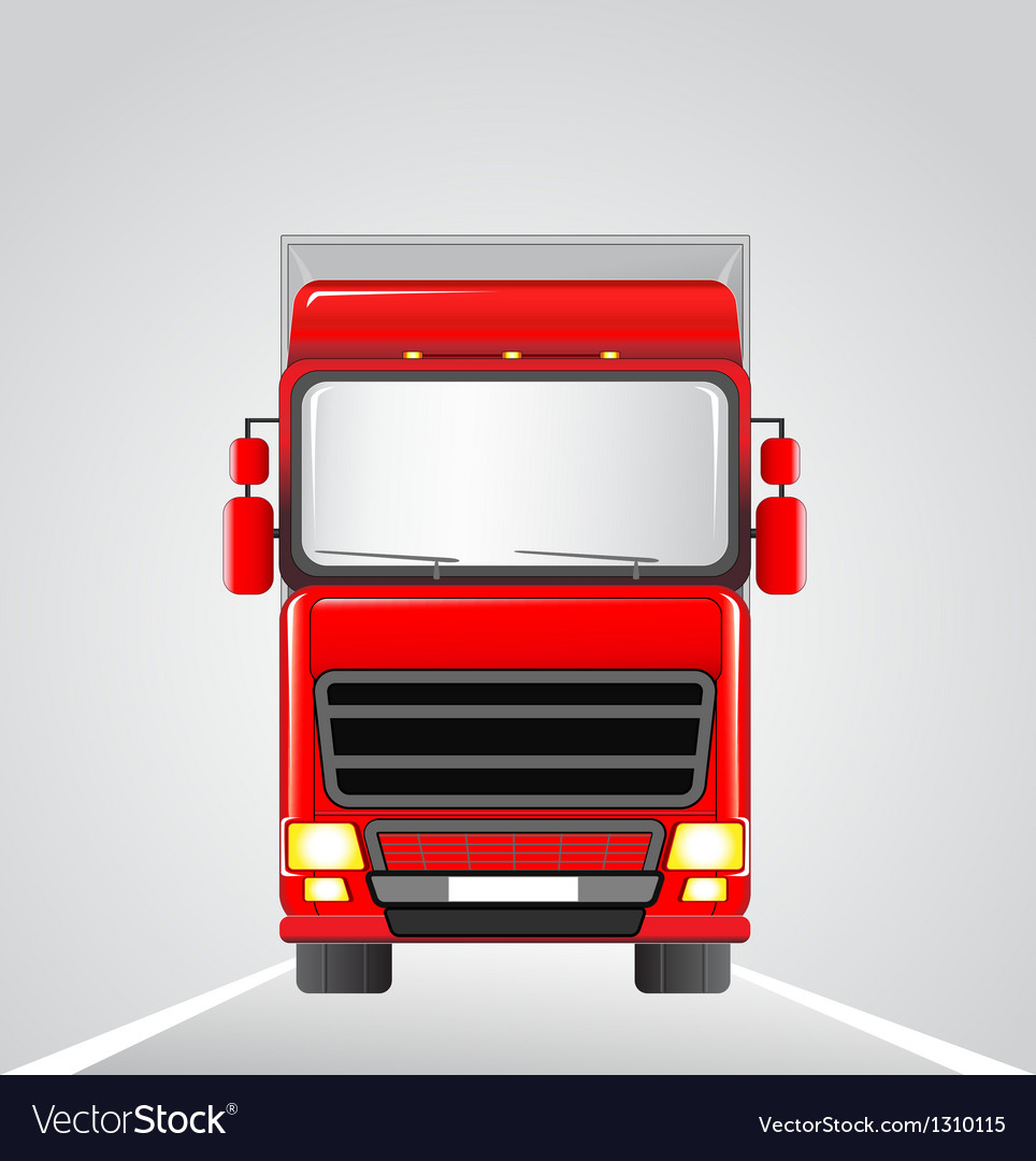 Delivery truck on the road vector image