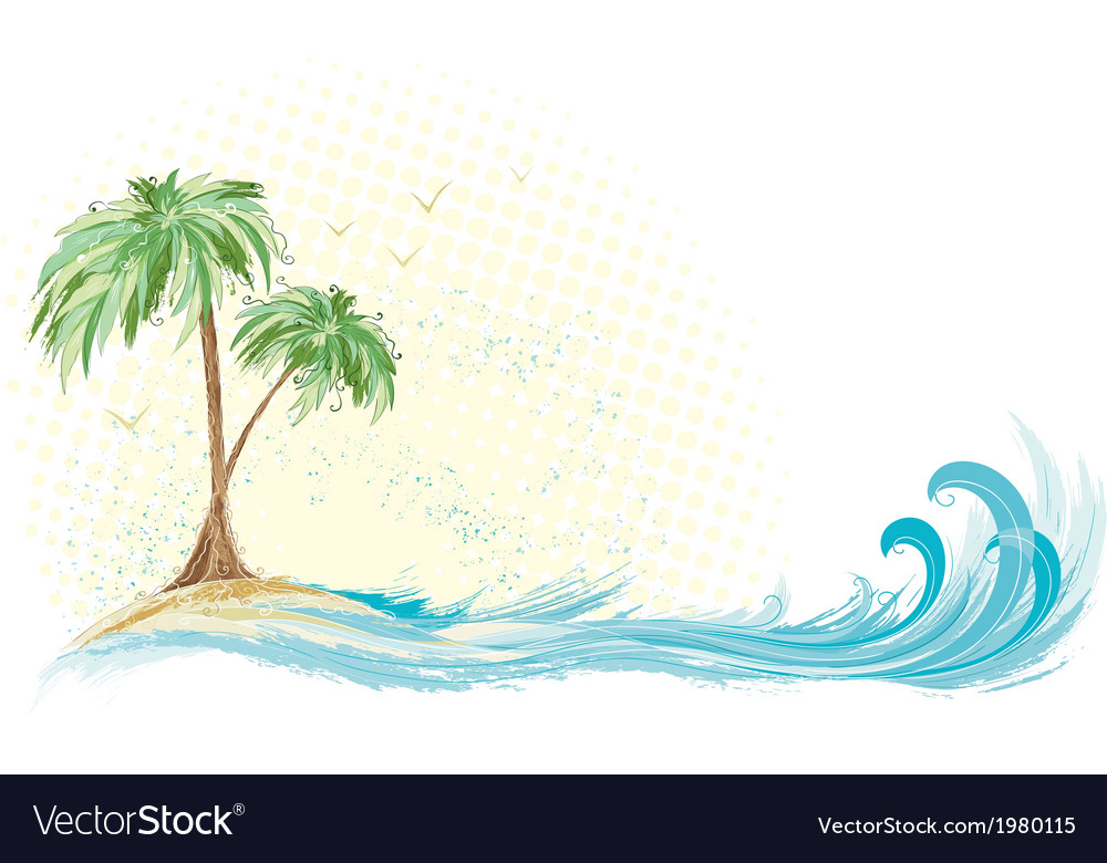 palm tree island royalty free vector image vectorstock rh vectorstock com island victoria hislop island veterinary clinic