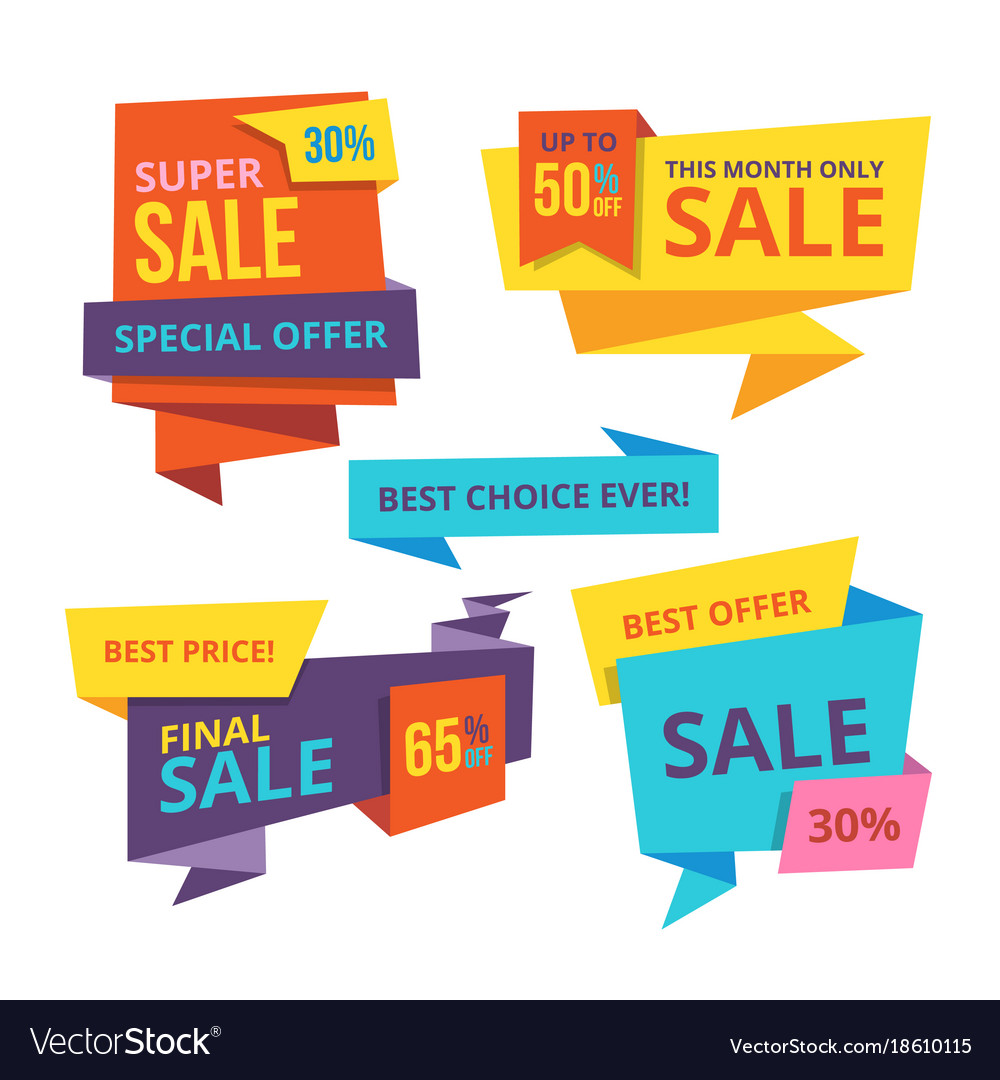 sale and discount banner templates royalty free vector image
