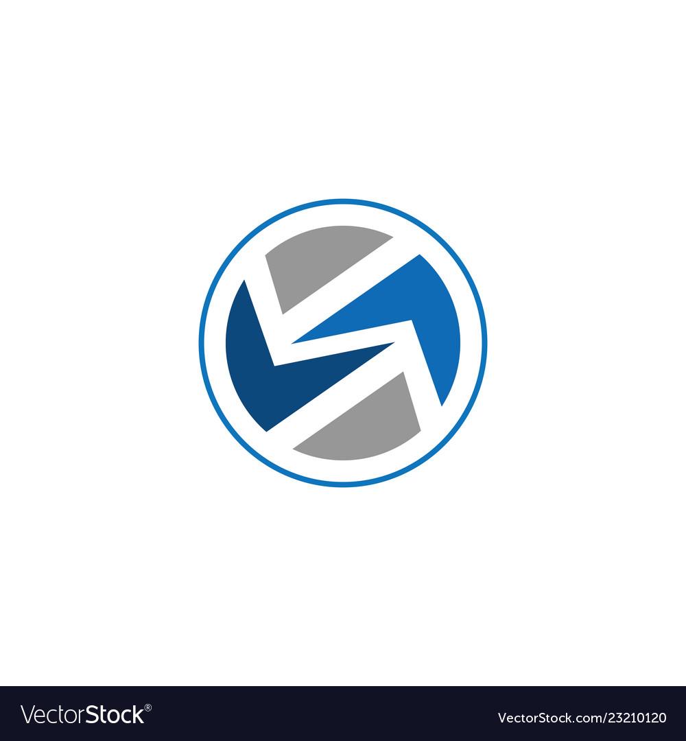 Abstract circle logo business