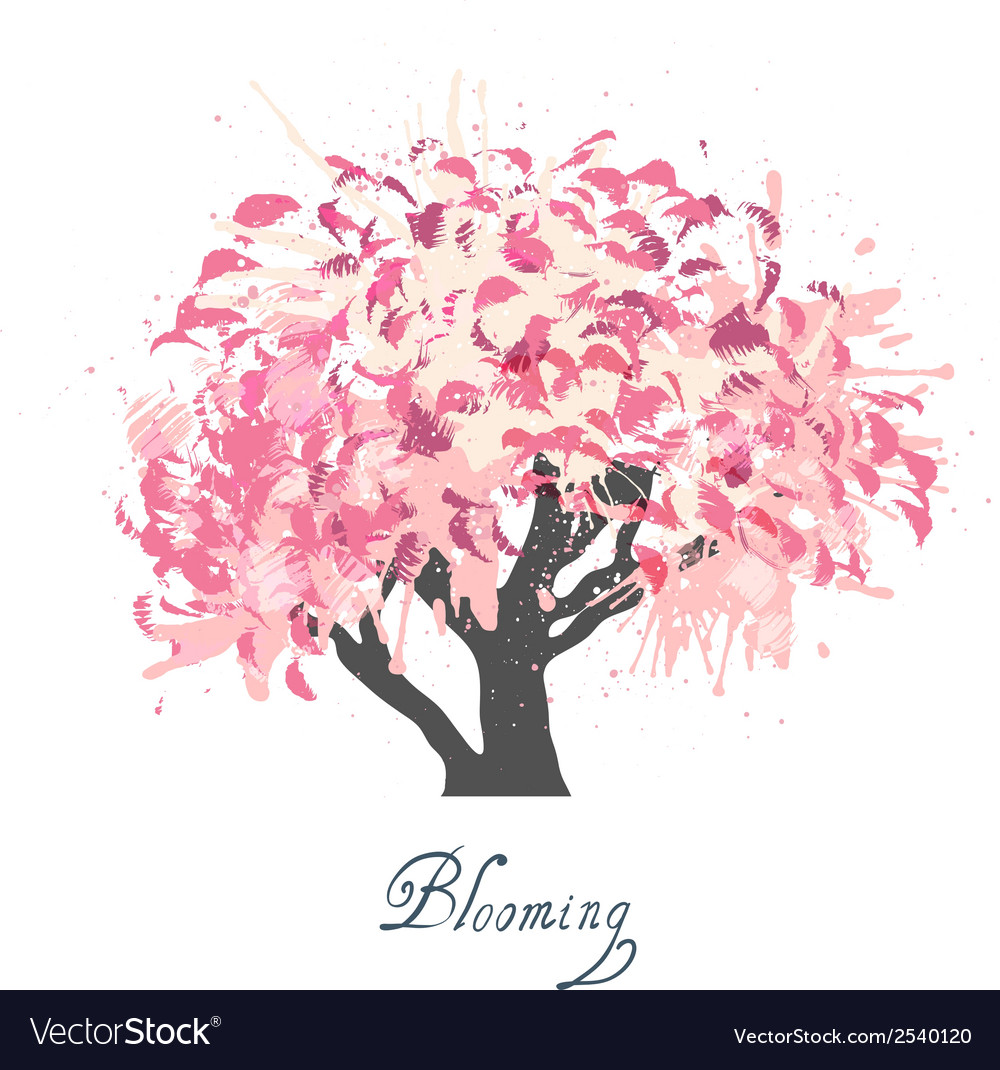 Apple tree blossom sketch