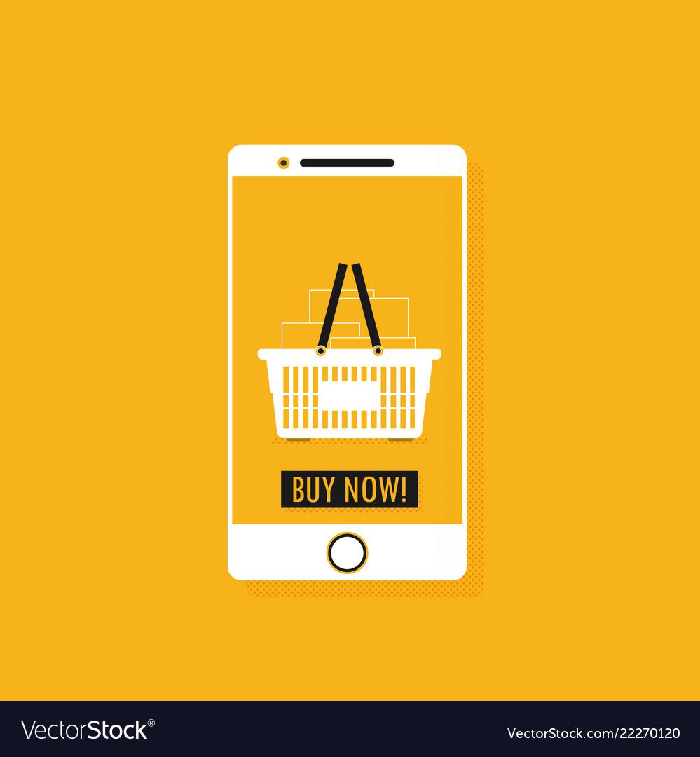 Flat design concept e-commerce
