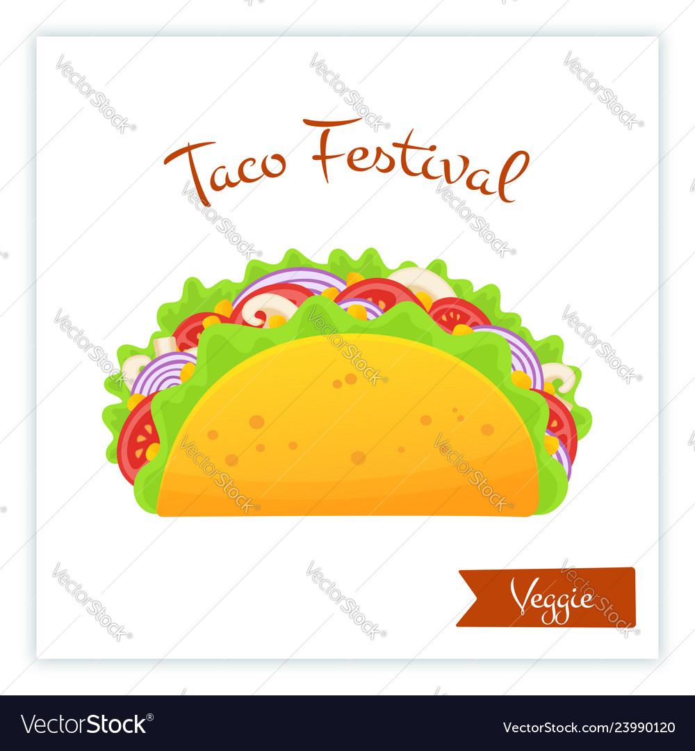 Fresh traditional veggie tacos food web banner