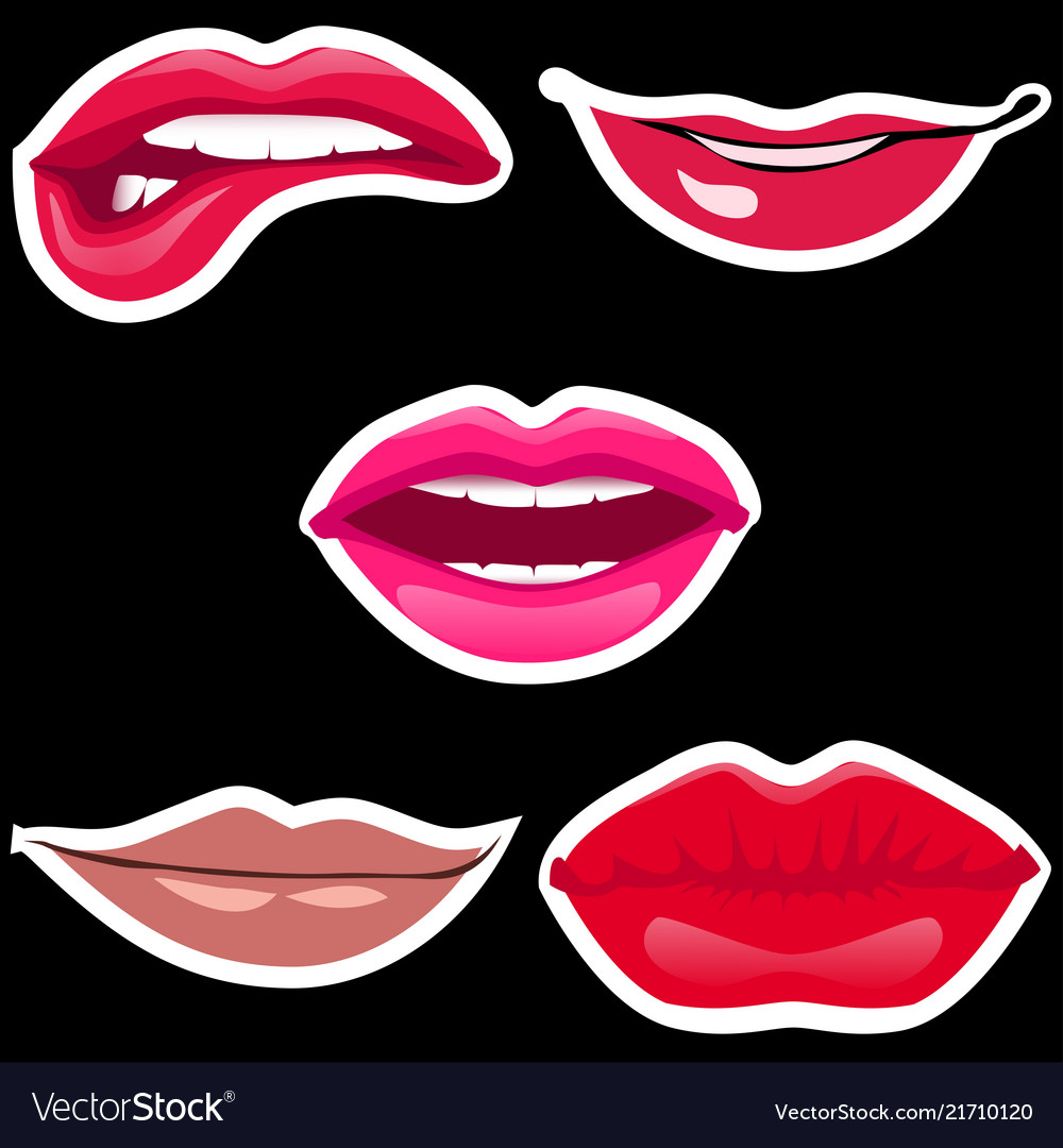Lips patch collection