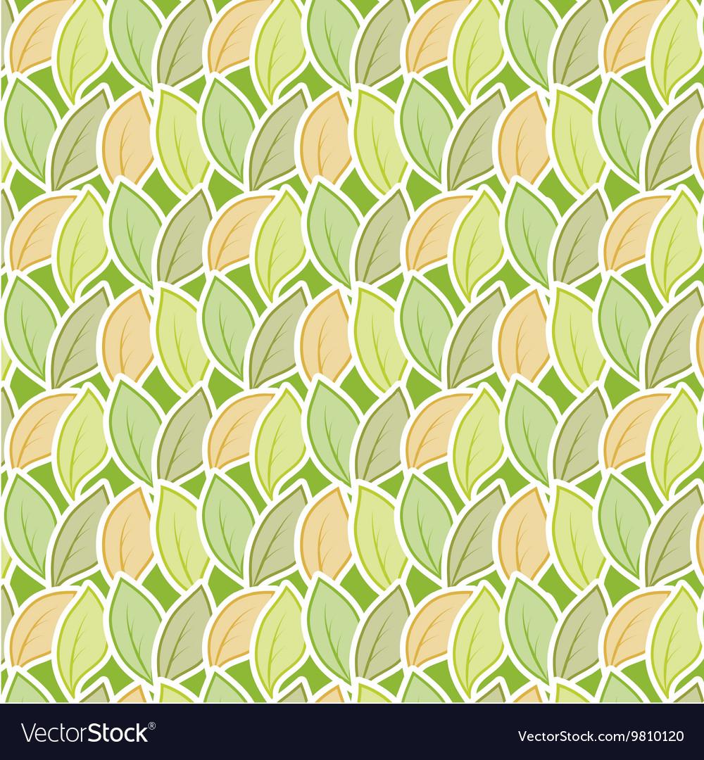 Seamless stylized foliage pattern vector image