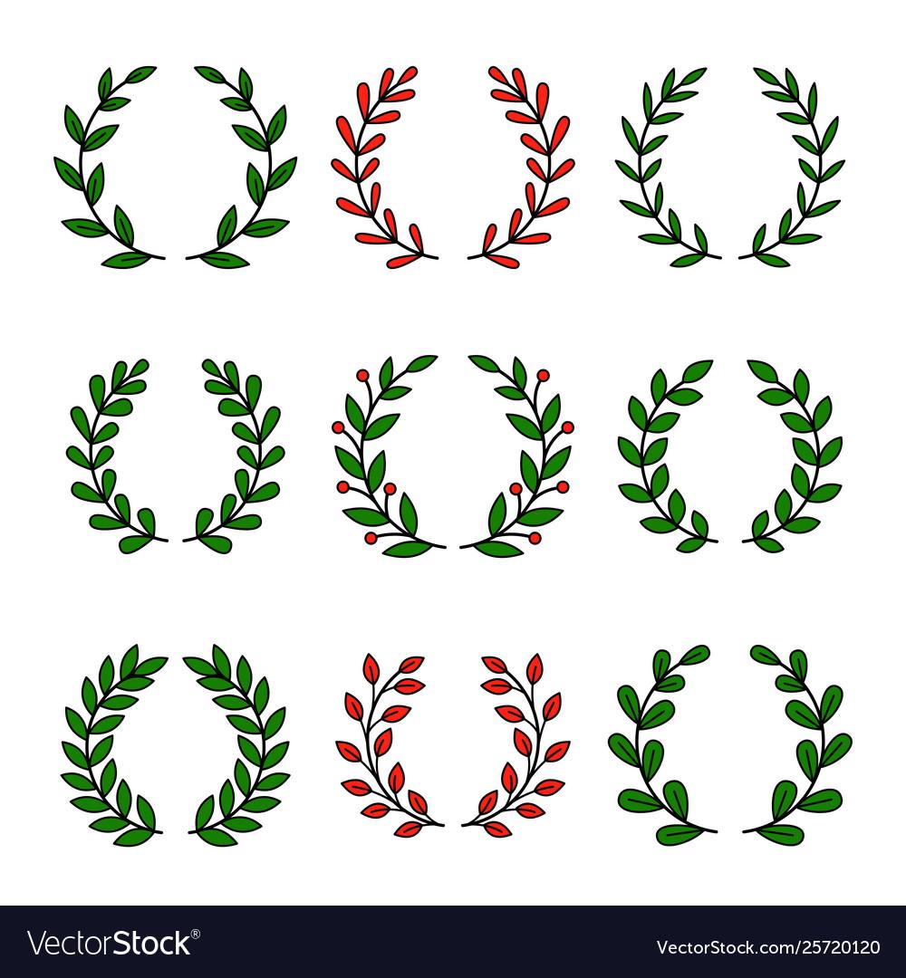 Set laurel wreath for awards