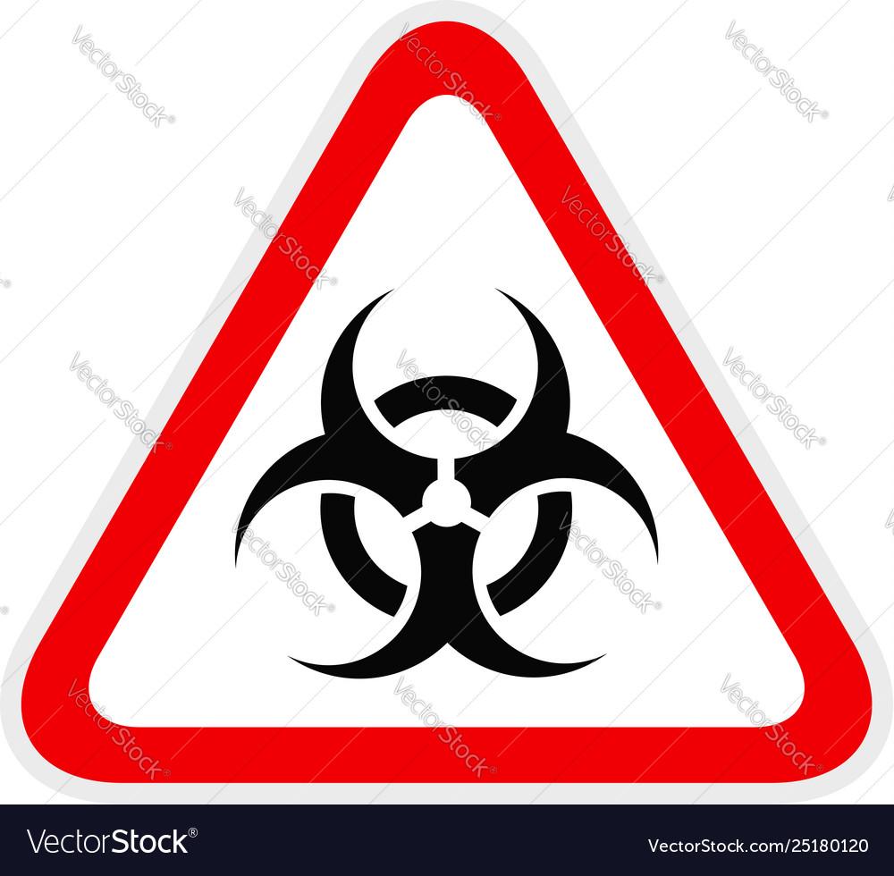Triangular yellow warning hazard symbol