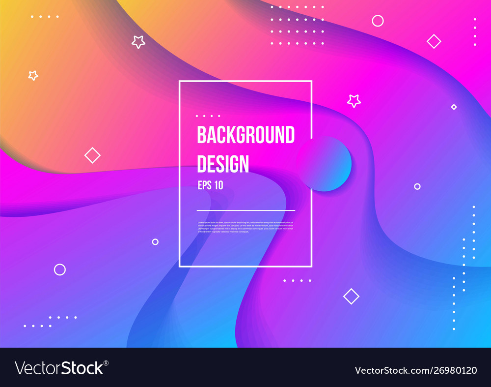 Wavy geometric with fluid design background