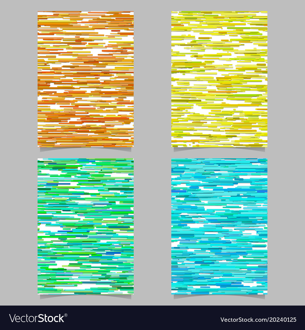 Abstract horizontal stripe background poster vector image