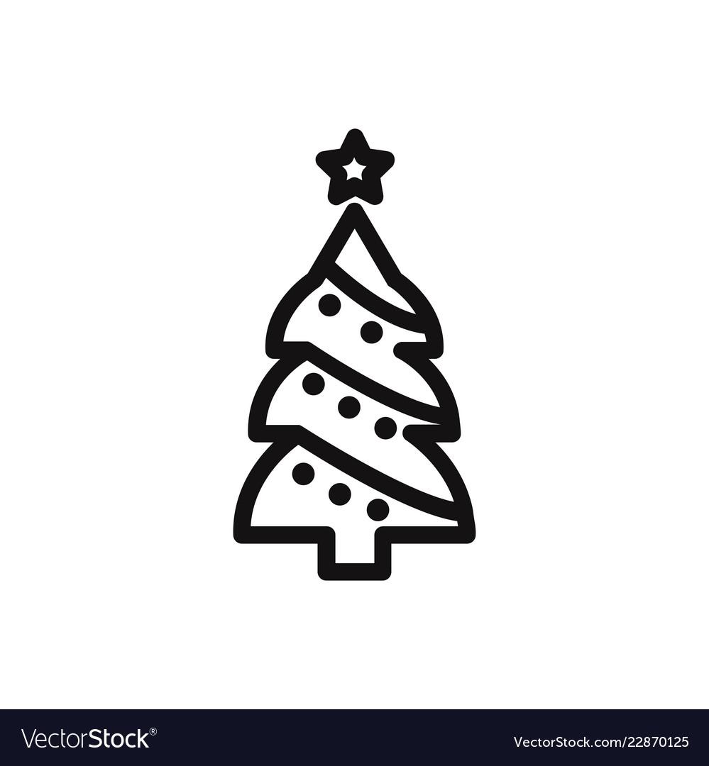 christmas tree icon winterxmas symbol flat sign vector image vectorstock