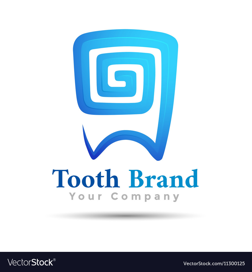 Dental logo tooth symbol design Template for your