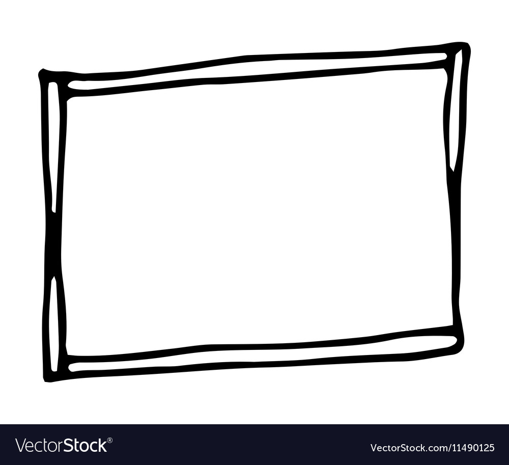 hand drawn rectangle frame royalty free vector image rh vectorstock com picture frame vector download picture frame vector pack