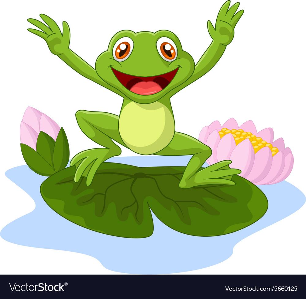 happy cartoon king frog royalty free vector image rh vectorstock com frog vector images vector frog