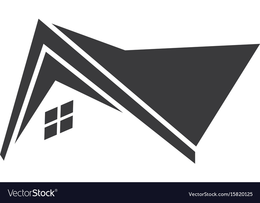 Home roof icon logo