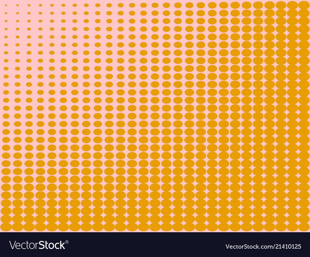 Pop art background the orange color turns into