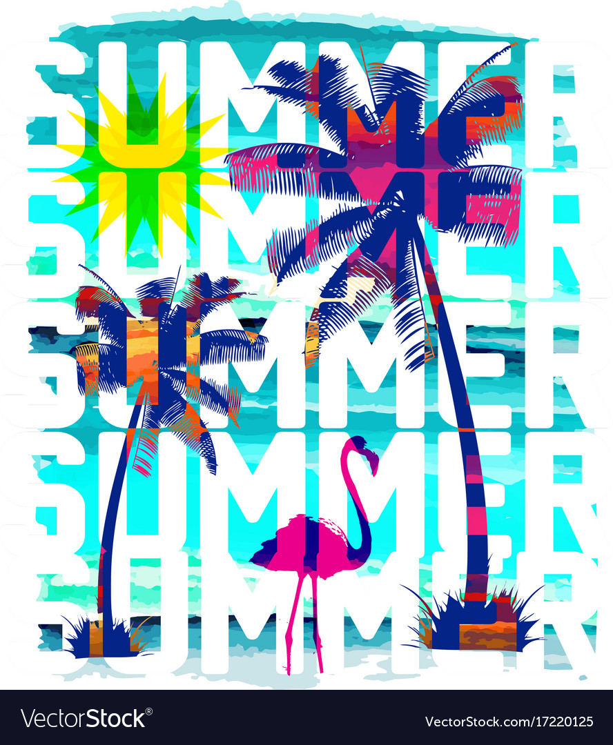 Vintage Beach Poster Background Royalty Free Vector Image