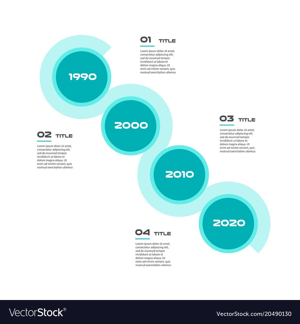 Angle timeline steps infographics - can