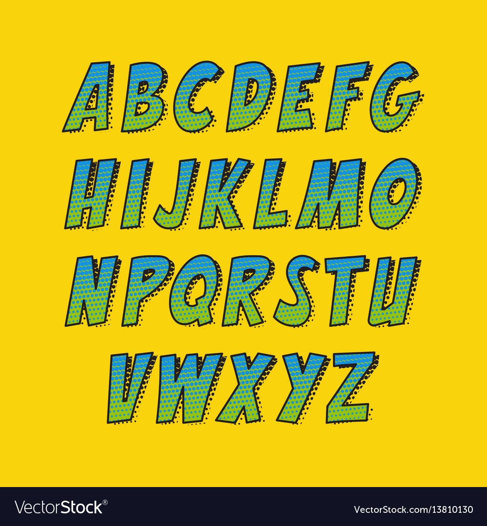 Creative font alphabet collection set in the