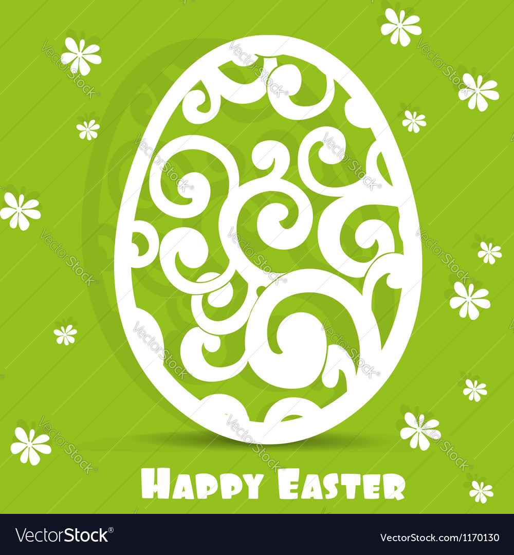 Easter egg openwork appliques postcard