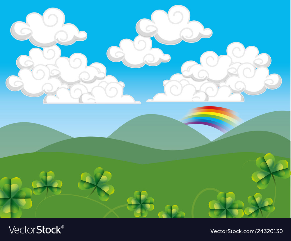 Hills Landscape Cartoon Royalty Free Vector Image