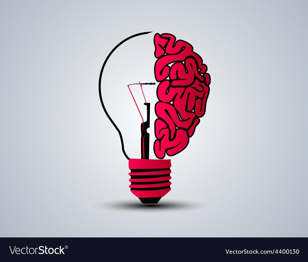 Idea brain bulb