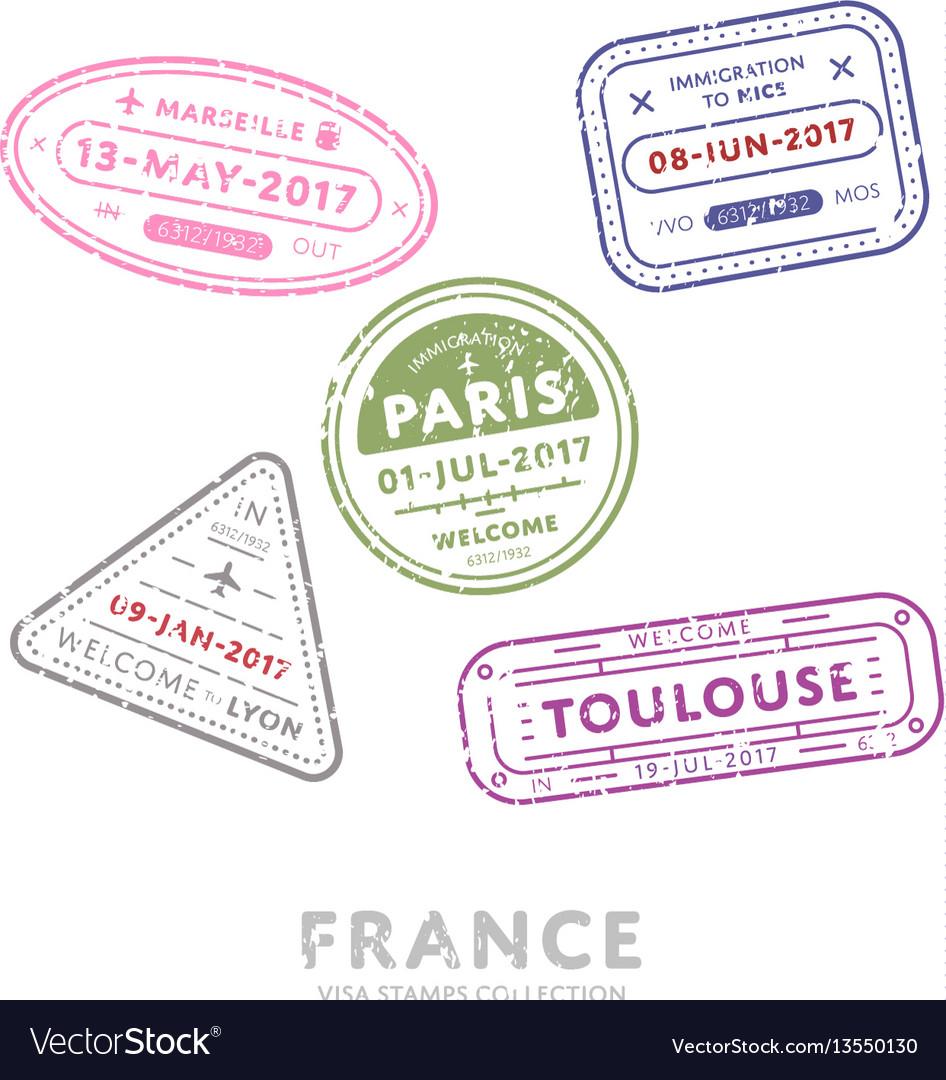 International travel visa stamps